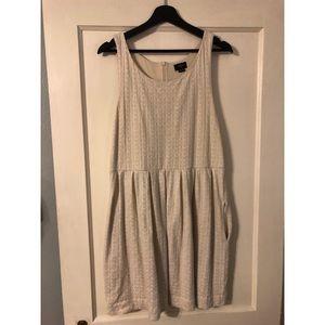 Anthropologie size L Deletta dress in cream